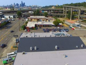 Residential Roofing: Seattle Cook House metal roof in Matte Black