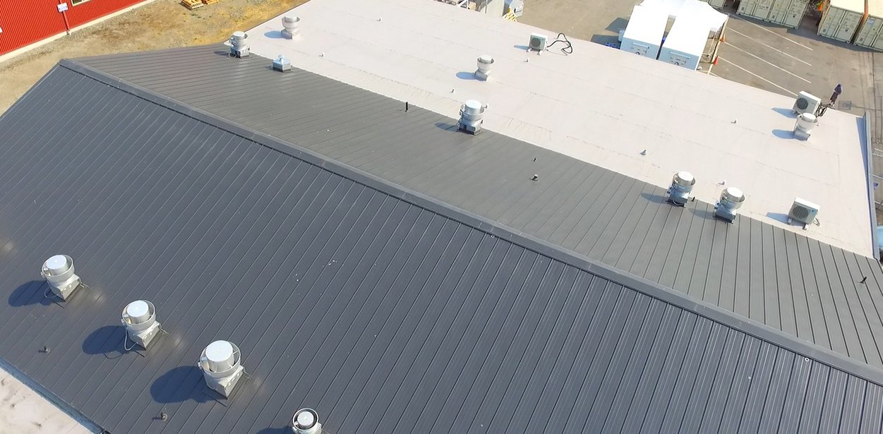 Seattle Cook House Metal & Flat Roof with .60mil Gray TPO roof