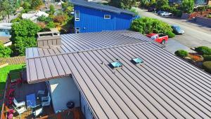 Residential Metal Roof: Lake Washington with new fascia board