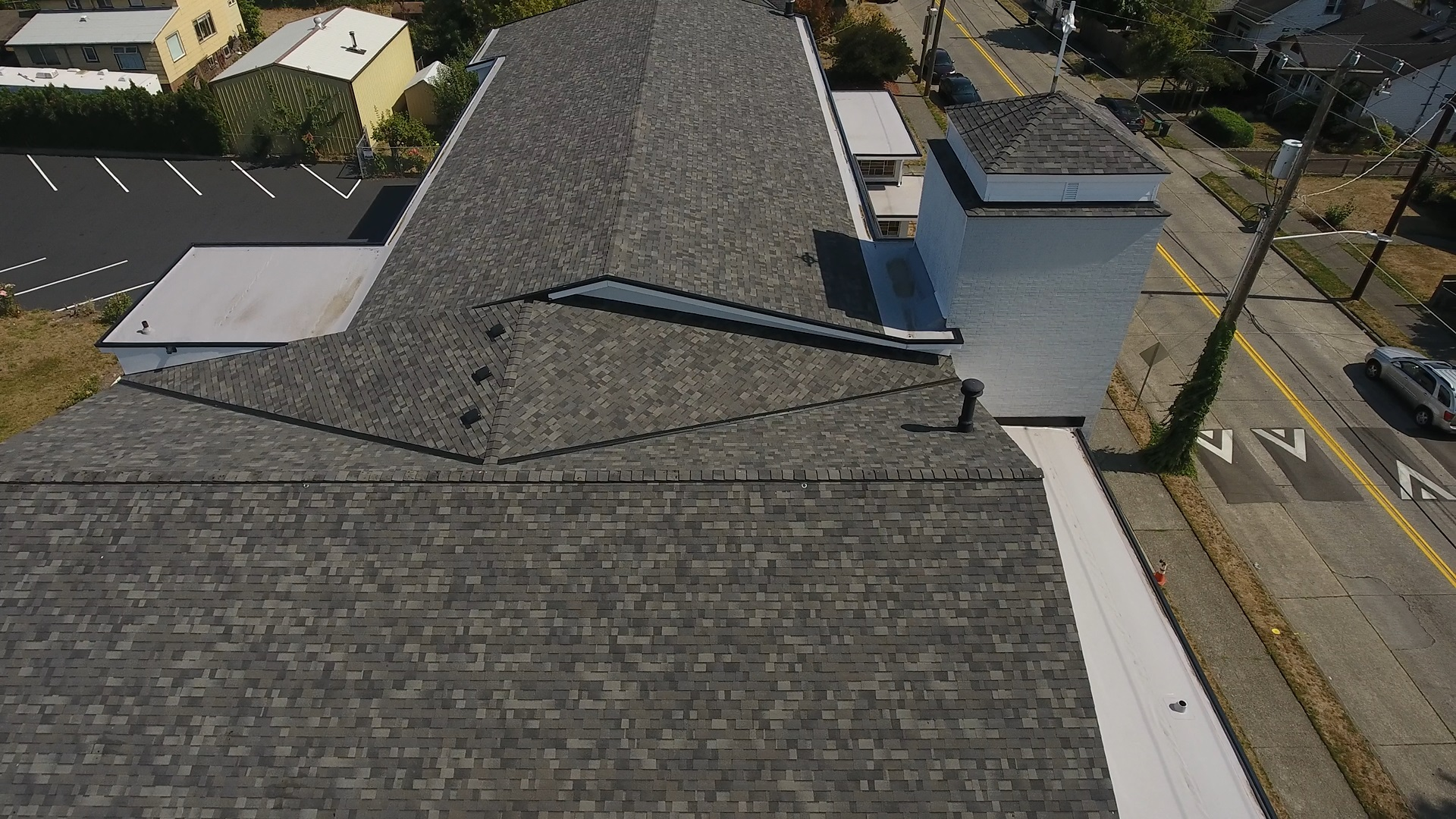 Church with Commercial Composite Shingle / Flat Roof in Seattle, Washington
